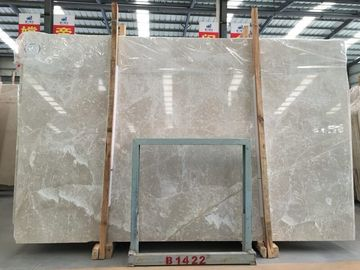 China Shiny Venus Beige Mable Slab Wall Natural Tiles Decoration 30X30cm Size distributor
