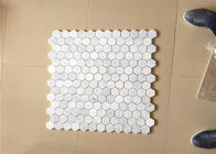 "Hexagonal Honed Stone Mosaic Tile Marble Stone Chip 12""X12"" Size"
